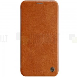 """Greznais """"Nillkin"""" Qin sērijas ādas atvērams brūns Apple iPhone 11 Pro maciņš"""