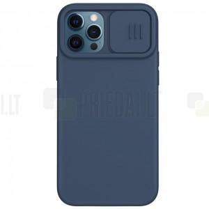 "Apple iPhone 12 (12 Pro) ""Nillkin"" CamShield MagSafe tumši zils apvalks"