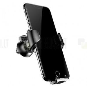 """""""Baseus"""" Gravity automašīnas telefona turētājs (restēm) - melns"""