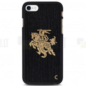 "Apple iPhone 7 (iPhone 8) ""Crafted Cover""  Melns Vytis dabīga koka telefona apvalks"