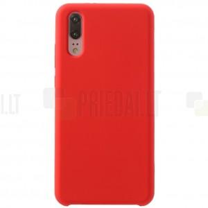 Huawei P20 Shell cieta silikona (TPU) apvalks - sarkans