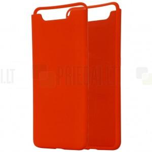 Samsung Galaxy A80 (A805F) Shell cieta silikona (TPU) sarkans apvalks