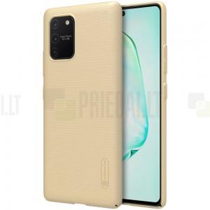 Samsung Galaxy S10 Lite (G970) Nillkin Frosted Shield zelta plastmasas apvalks