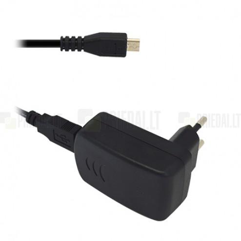 """Origināls """"Alcatel CBA3000 melns tīkla lādētājs (Eiropas modelis 1000 mA) ar micro USB vadu"""