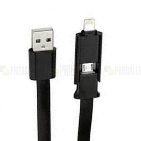 """Forever"" melns vads (micro USB un Lightning)"