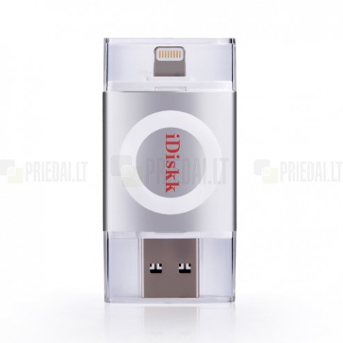 """iDiskk"" Lightning USB 3.0 Flash Drive sudraba 64 Gb atmiņa"