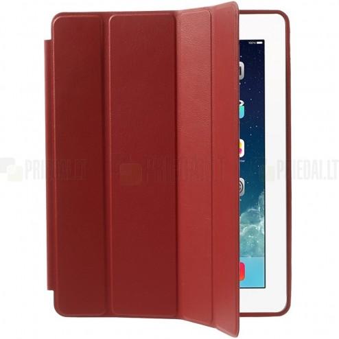 Apple iPad 2 / 3 / 4 klasisks atvēramais sarkans futrālis