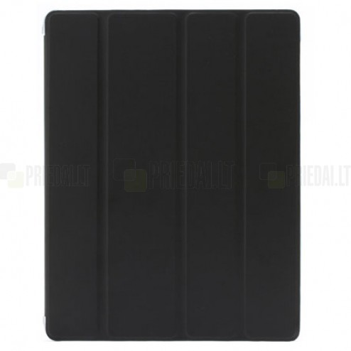 Apple iPad 2 / 3 / 4 plāns atvēramais melns maciņš