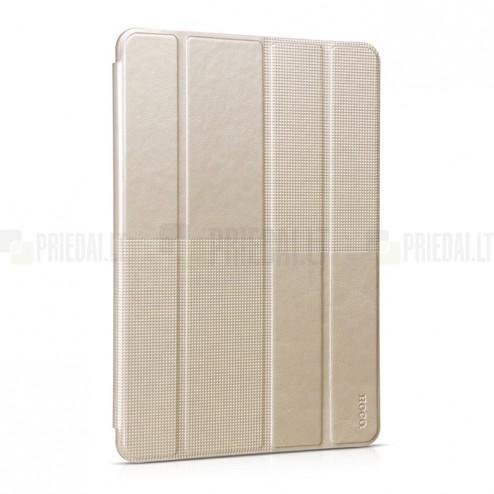 """Greznais """"HOCO"""" Crystal Fashion sērijas ādas atvērams zelta Apple iPad Air 2 futrālis"""