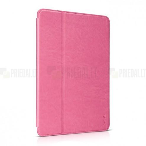 """Greznais """"HOCO"""" Retro sērijas ādas atvērams rozs Apple iPad Air 2 futrālis"""