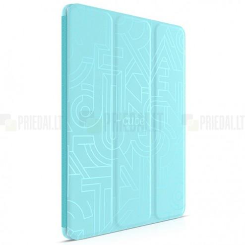"""Greznais """"HOCO"""" Crystal Cube sērijas (cieta silikona - TPU) atvērams zils Apple iPad Air 2 futrālis"""