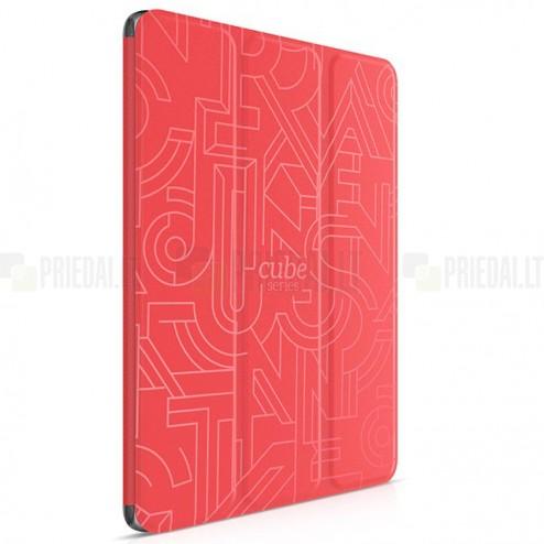 "Greznais ""HOCO"" Crystal Cube sērijas (cieta silikona - TPU) atvērams sarkans Apple iPad Air 2 futrālis"
