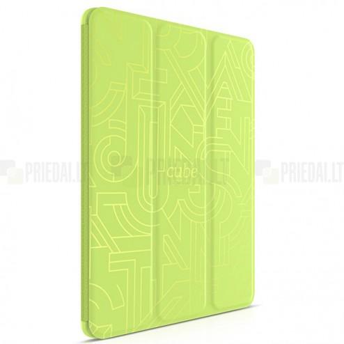 """Greznais """"HOCO"""" Crystal Cube sērijas (cieta silikona - TPU) atvērams zaļš Apple iPad Air 2 futrālis"""