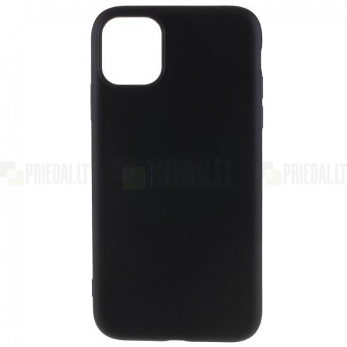Apple iPhone 11 Pro Max cieta silikona (TPU) melns apvalks
