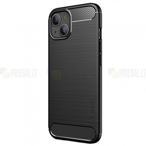 "Apple iPhone 13 ""IPAKY"" Carbon cieta silikona (TPU) melns vāciņš"