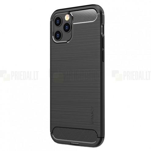 "Apple iPhone 13 Pro Max ""IPAKY"" Carbon cieta silikona (TPU) melns vāciņš"