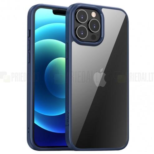 """Apple iPhone 13 Pro Max elegants """"IPAKY"""" Royal dzidrs (caurspīdīgs) silikona apvalks (apmales zilā krāsā)"""
