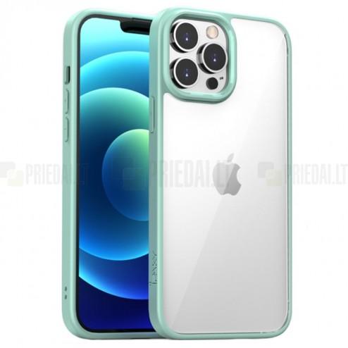 """Apple iPhone 13 Pro Max elegants """"IPAKY"""" Royal dzidrs (caurspīdīgs) silikona apvalks (apmales zaļā krāsā)"""