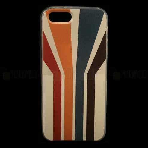 """Bullet"" Apple iPhone 5, 5S cieta silikona futrālis - Striped (Strīpains)"