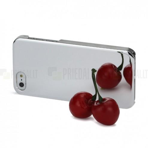Spogulis sudrabs Apple iPhone 5 5S apvalks