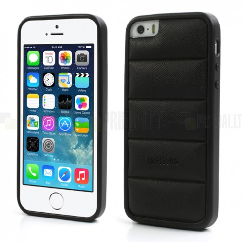 "Melns ""Infisens"" silikona Apple iPhone 5, 5S apvalks"