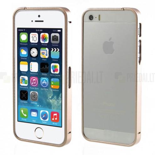 Stilīgs šampanieša Apple iPhone 5 / 5S rāmis - sānu apmale (bamperis)