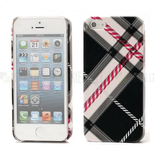 "Apple iPhone 5, Apple iPhone 5S ""Burberry"" stils melns apvalks"