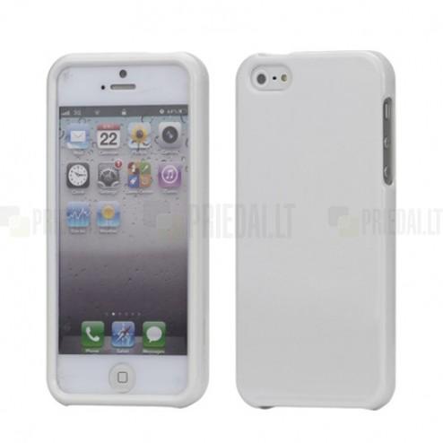 Balts Snap-on plastmāsas Apple iPhone 5 / 5S apvalks