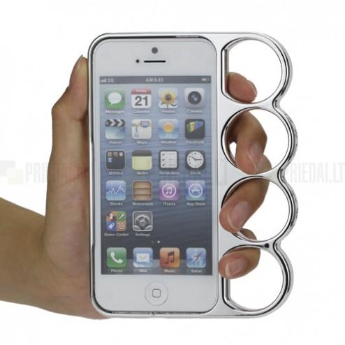 Sudraba, plastmasas Apple iPhone 5 / 5S bamperis