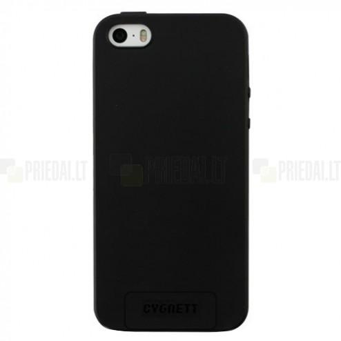 """Apple iPhone SE (5, 5s) """"Cygnett"""" cieta silikona (TPU) melns apvalks"""