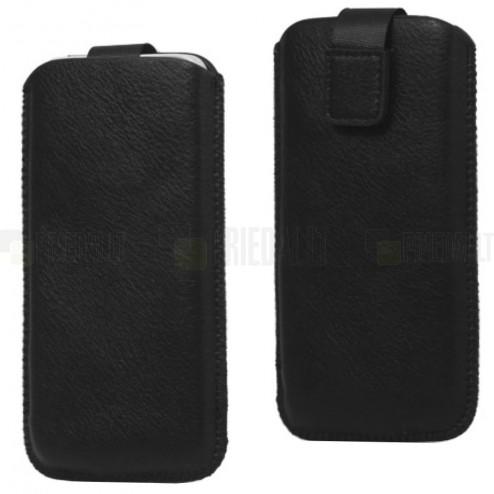 Melna ādas Apple iPhone 5 telefona ieliktņa