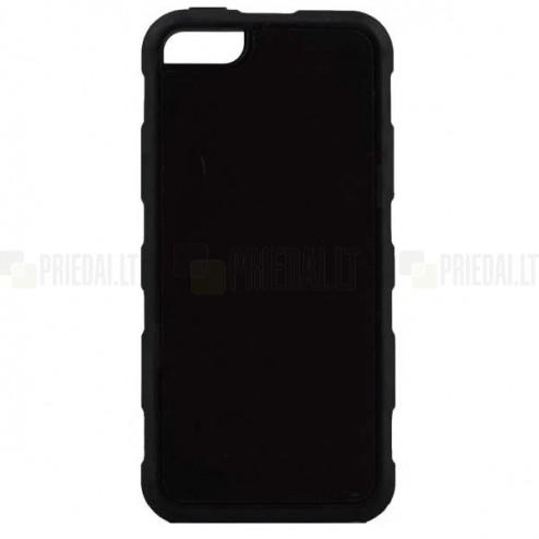 Apple iPhone SE (5, 5s) Likgus pastiprinātas aizsardzības melns apvalks