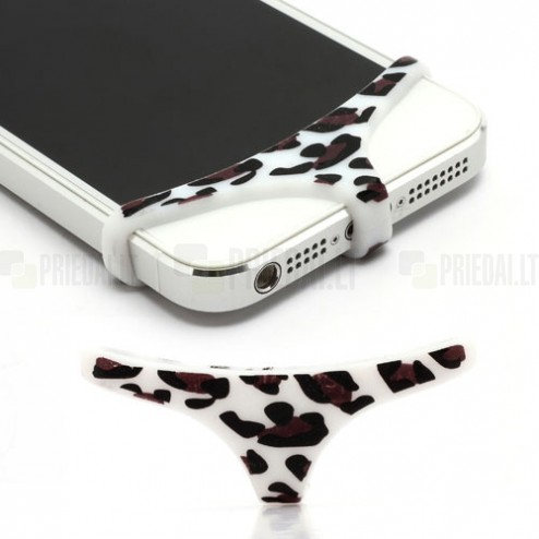 Balta, leoparda mīksta silikona elefona apakšbikses