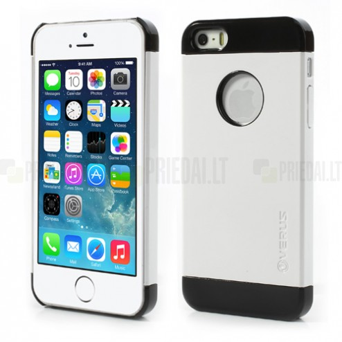 "Balts ar melniem lenti ""Verus"" Apple iPhone 5, 5S apvalks"