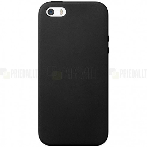 Apple iPhone 5S (5) cieta silikona (TPU) melns apvalks