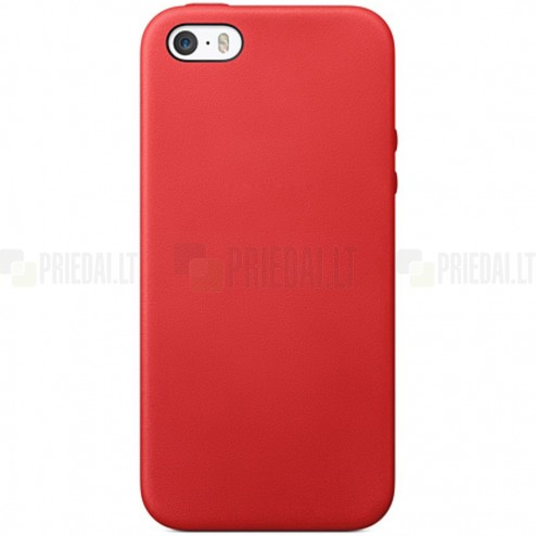 Apple iPhone 5S (5) cieta silikona (TPU) sarkans apvalks