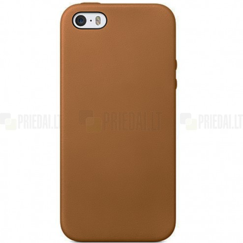 Apple iPhone 5S (5) cieta silikona (TPU) gaiši brūns apvalks