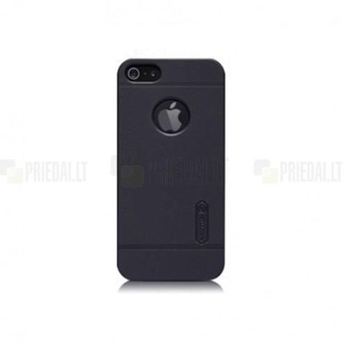 Apple iPhone 5S Nillkin Frosted Shield melns plastmasas futrālis