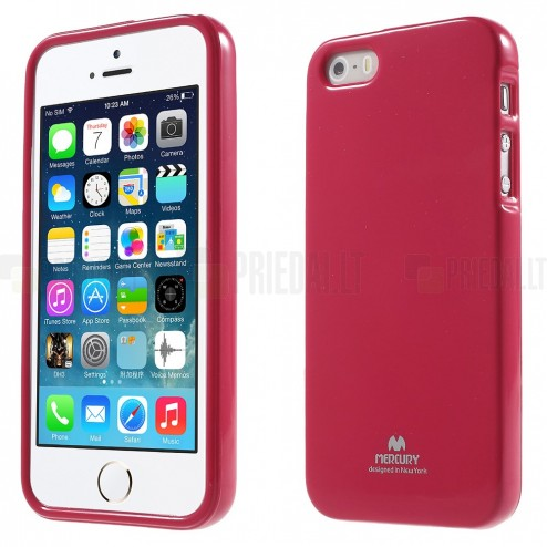 Apple iPhone 5 (5S) Mercury tumši rozs cieta silikona (TPU) apvalks