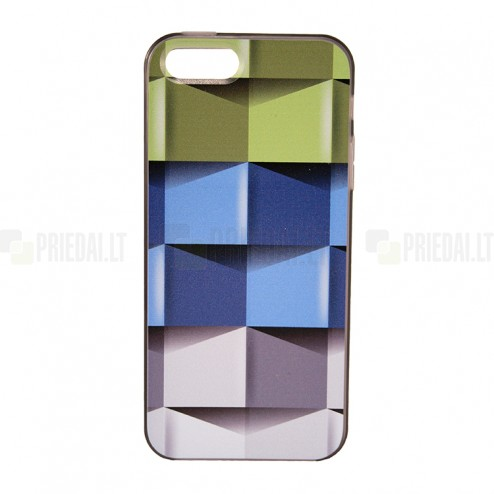 """Bullet"" Apple iPhone 5, 5S cieta silikona futrālis - Cubes (Kubi)"