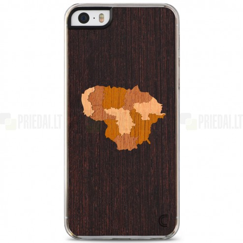 "Apple iPhone 5s ""Crafted Cover"" Lietuva dabīga koka telefona apvalks"