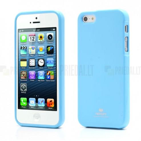 Apple iPhone 5, 5S Mercury Color gaiši zils cieta silikona (TPU) futrālis