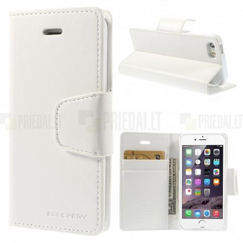 Mercury Sonata Apple iPhone 5S atvērams balts ādas maciņš