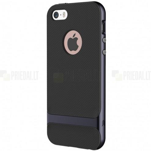 """""""Rock"""" Royce pastiprinātas aizsardzības melns Apple iPhone 5 (5s, SE) apvalks"""