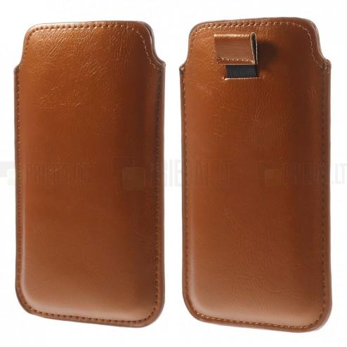Gaiši brūnas ādas telefona ieliktņa (L izmērs - Apple iPhone 6)