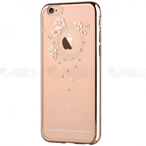 Apple iPhone 6S Plus elegants Devia Crystal Garland Swarovski dzidrs (caurspīdīgs) zelta plastmasas apvalks ar kristāliem