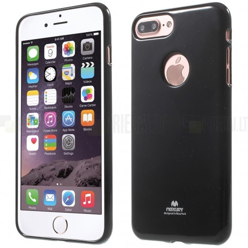 Apple iPhone 7 Plus (iPhone 8 Plus) Mercury melns cieta silikona (TPU) apvalks