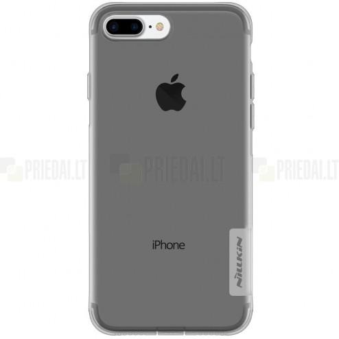 Apple iPhone 7 Plus (iPhone 8 Plus) Nillkin Nature dzidrs (caurspīdīgs) silikona pelēks apvalks