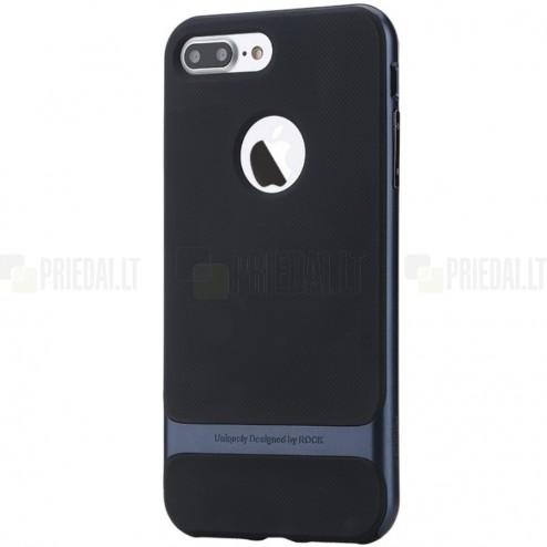 """""""Rock"""" Royce pastiprinātas aizsardzības melns apmales zilā krāsā Apple iPhone 7 Plus (iPhone 8 Plus) apvalks"""