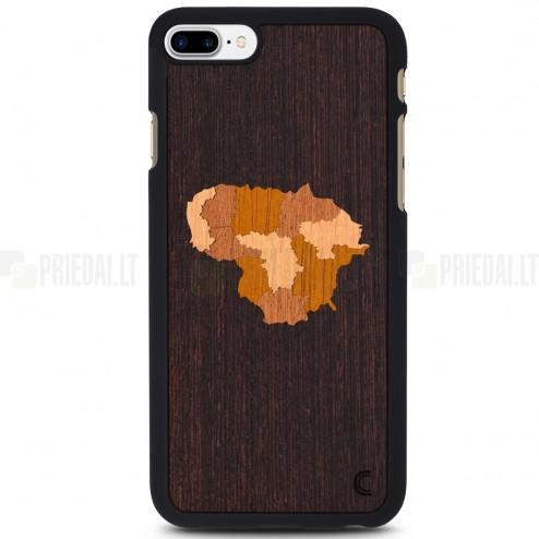 "Apple iPhone 7 Plus (iPhone 8 Plus) ""Crafted Cover"" Lietuva dabīga koka telefona apvalks"